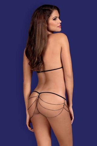 Откровенный комплект белья Redella состоит из лифа и трусиков-стринг