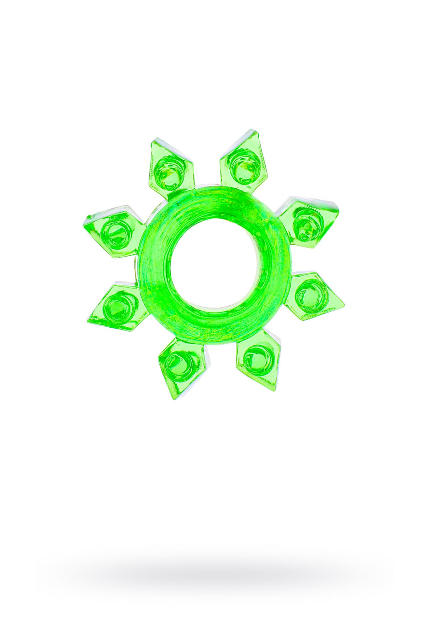 Эрекционное кольцо на пенис TOYFA, TPE, зеленый фото