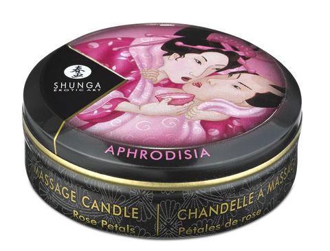 Массажное арома масло в виде свечи, Rose Petals мини 30мл.Лепесток розы