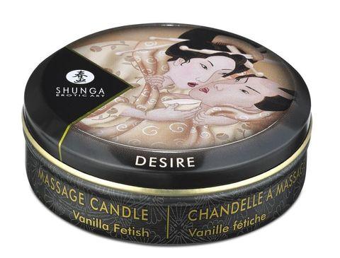 Массажное арома масло в виде свечи, Vanilla Fetish мини 30мл.Ванильный фетиш