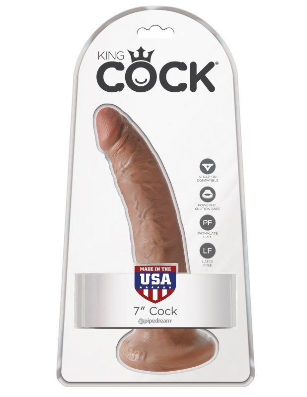 Фаллоимитатор на присоске загорелый King Cock 7 фото