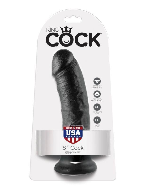 Фаллоимитатор на присоске черный King Cock 8 фото