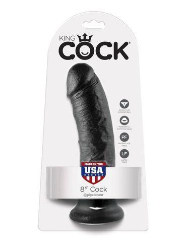Фаллоимитатор на присоске черный King Cock 8