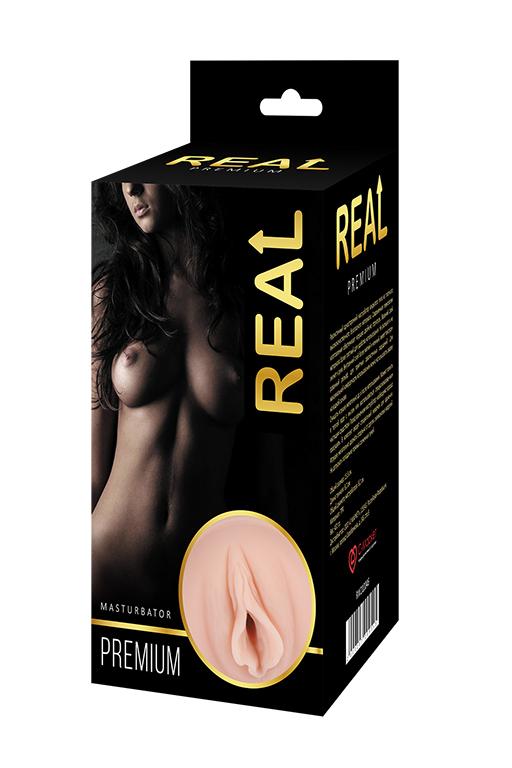 Реалистичный односторонний мастурбатор Real  Women Dual Layer с двойной структурой 15,5х8,2 см фото
