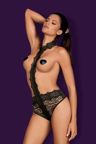 Оригинальное, смелое боди Crossita выполнено из эластичного материала с леопардовым принтом
