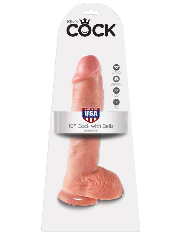 Фаллоимитатор-гигант King Cock 10 Cock with Balls
