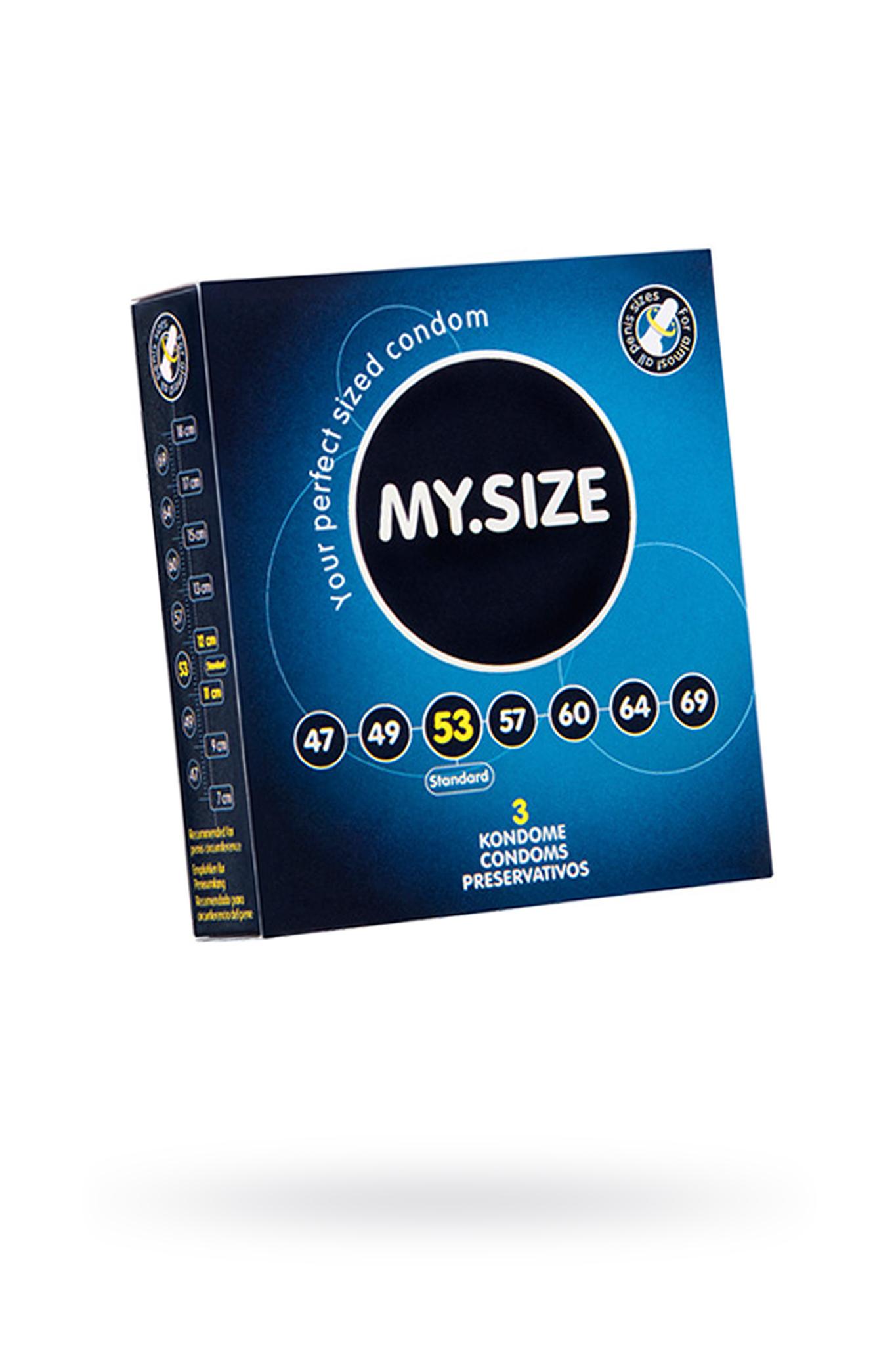 Презервативы  ''MY.SIZE'' №3 размер 53 (ширина 53mm) фото