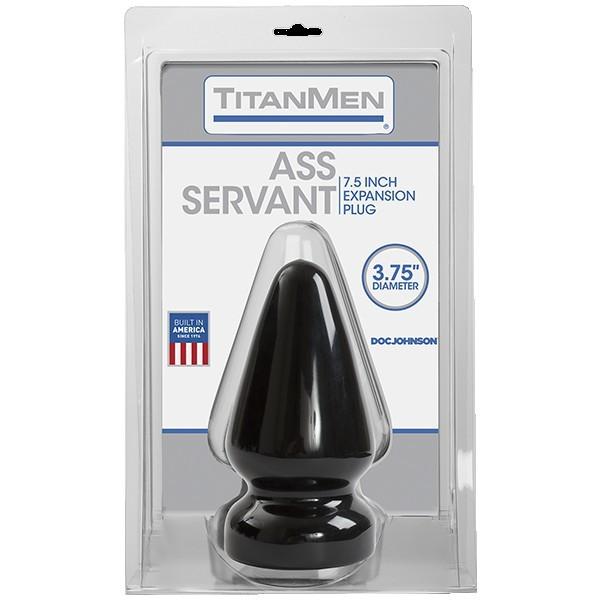 Анальная пробка черная без вибрации Titanmen Tools - Butt Plug - 3.75 Diameter Ass Servant фото