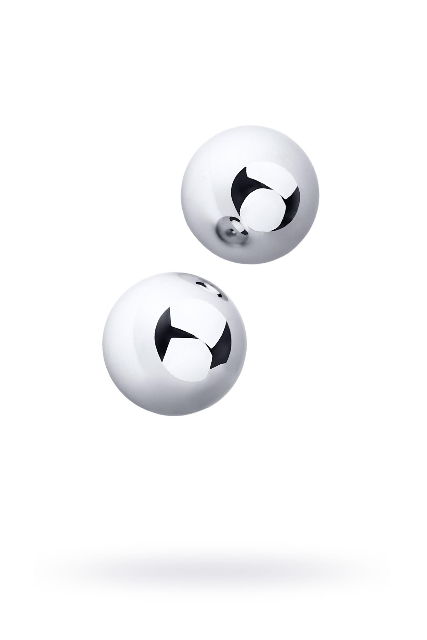 Вагинальные шарики Metal by TOYFA, металл, серебристые, Ø 3 см фото