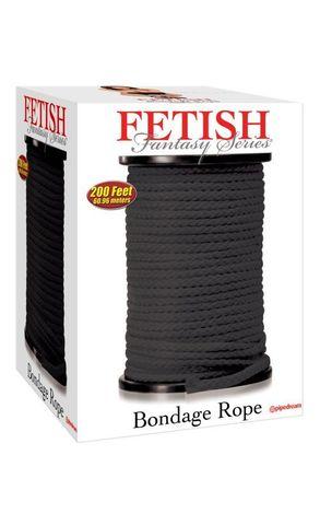 Веревка для фиксации в катушке Fetish Fantasy Series Bondage Rope 200 Feet - Black