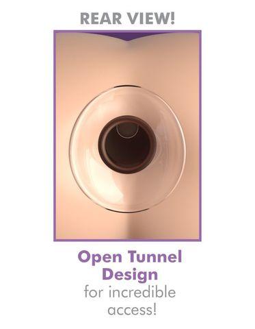 Анальный плаг из стекла с туннелем прозрачный небольшого размера Anal Fantasy Elite Beginner's Anal Gaper