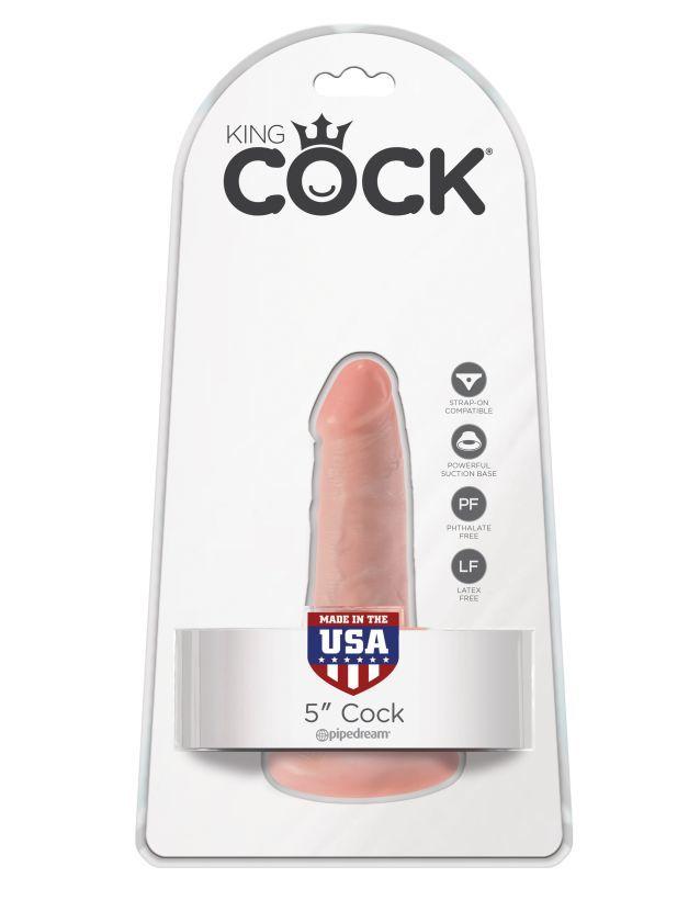 Фаллоимитатор на присоске телесный King Cock 5 Cock Flesh фото