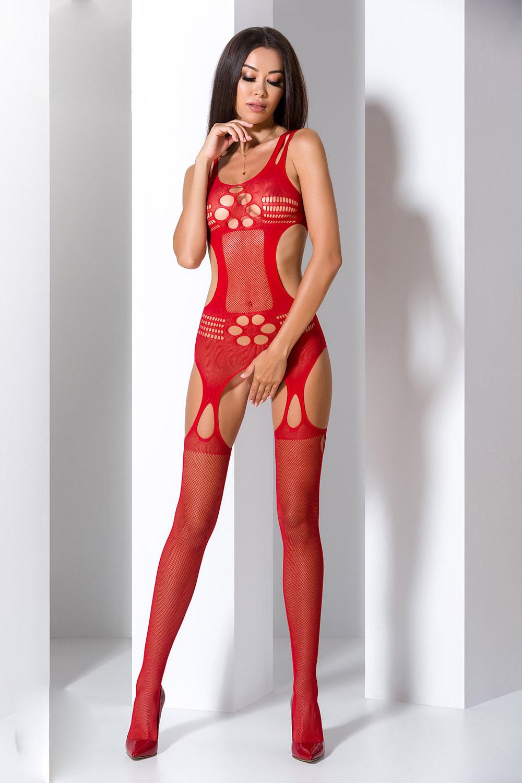 Красный эротический бодикомбинезон BS066 фото