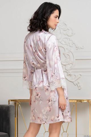 Короткий запашной халат Mia-Amore с широким длинным рукавом