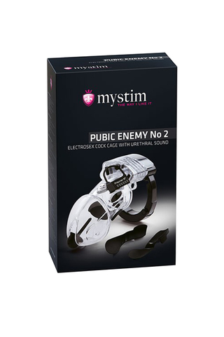Электростимулятор Mystim Pubic Enemy,ABS  пластик, прозрачный, 8,2 см