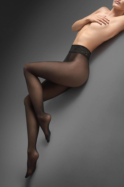 Черные колготки Exclusive Erotic Silk 30 den, изготовлены из микрофибры по 3D-технологии фото