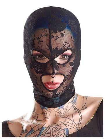 Кружевная маска на голову в отверстиями для глаз и рта Mask Lace by Bad Kitty