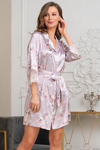 Короткий халат Mia-Amore на пуговицах с длинным рукавом