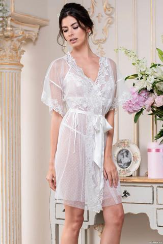 Романтичный запашной халат Mia-Amore с коротким рукавом