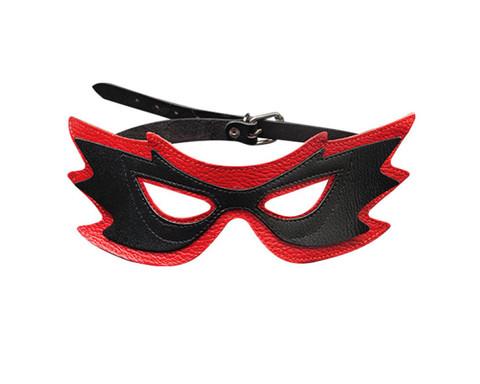 Маска «бабочка» черно-красная