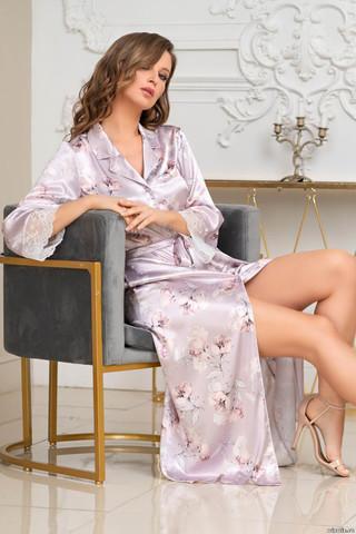 Длинный халат Mia-Amore на пуговицах с длинным рукавом