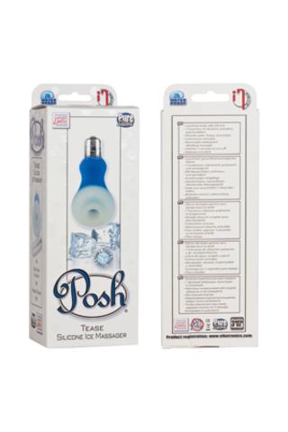 Мини-вибратор Posh Silicone Ice Massager Tease с охлаждающим эффектом голубой