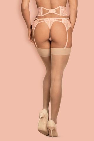 Телесные чулки под пояс S 800 stockings Nude