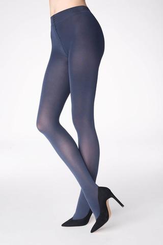 Синие колготки Shine E57 100 den с блестящими частицами, которые создают эффект шелкового сияния