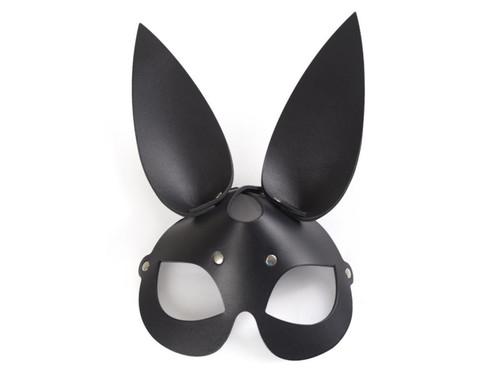 Черная эффектная маска Зайка