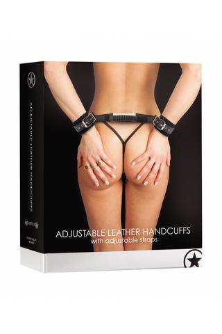 Наручники (оковы, фиксаторы) Adjustable Leather Handcuffs