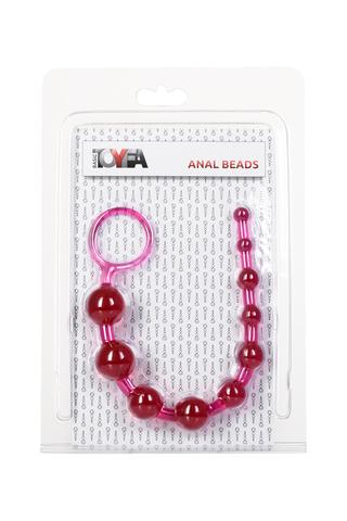 Анальная цепочка TOYFA, PVC, розовый, 30 см