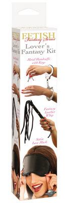 Fetish Fantasy Series набор Lover's Fantasy Kit: наручники+плетка+маска фото