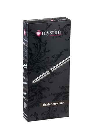 Электростимулятор уретры Mystim Tickleberry Finn, хирургическая сталь, серебристый,19,6 см
