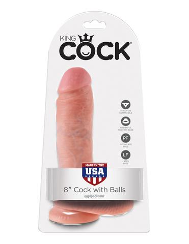 Фаллоимитатор на присоске 8 Cock with Balls