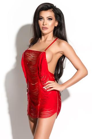 Платье и стринги Me Seduce Queen of hearts Samantha, красные, XS/S