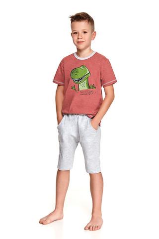Хлопковая пижама Alan для мальчиков состоит из футболки и удлиненных шорт