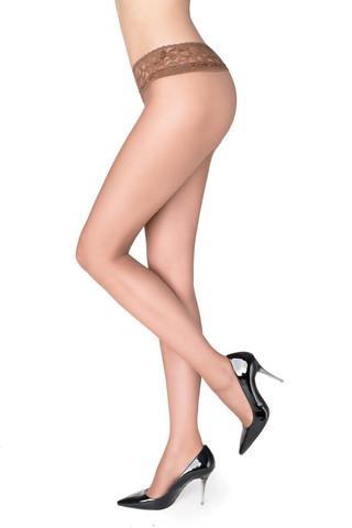 Телесные колготки Erotic Vita Bassa 30 den с заниженной талией