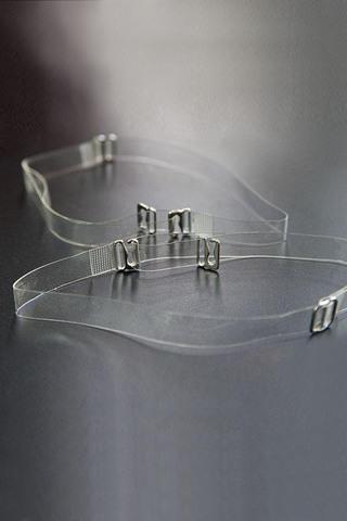 Бретели силиконовые шириной 10 мм с металлическим крючком