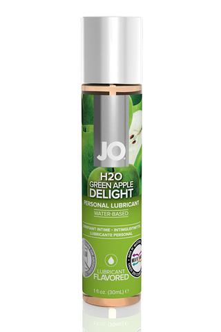 Ароматизированный лубрикант Яблоко  на водной основе JO Flavored  Green Apple H2O 1oz (30 мл)