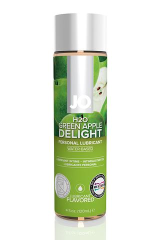 Ароматизированный лубрикант Яблоко на водной основе JO Flavored  Green Apple H2O 120 мл.