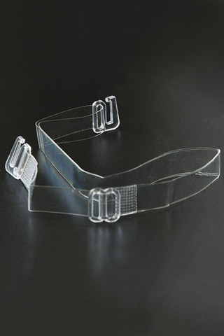 Бретели силиконовые шириной 10 мм с пластиковым крючком