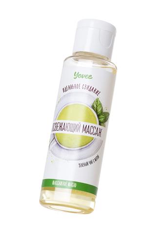 Масло для массажа Yovee by Toyfa «Освежающий массаж», с ароматом зеленого чая и мяты, 50 мл