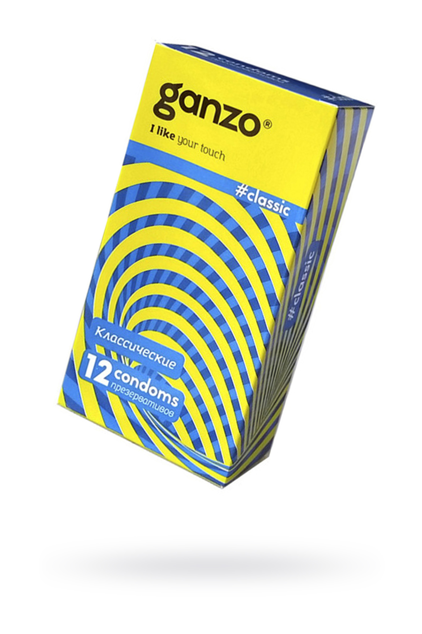 Презервативы Ganzo Classic, классичесике, с обильной смазкой, латекс, 18,5 см, 12 шт фото