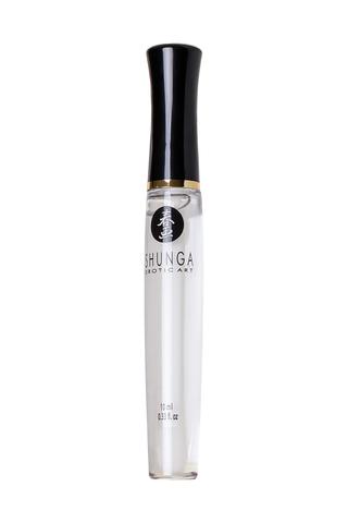 Блеск для губ Shunga «Божественное удовольствие», эффект тепла, прохлады и покалывания, клубника и ш