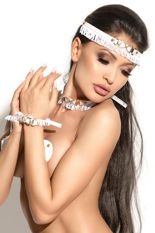 Украшение на голову Me Seduce Queen of hearts Arabesque, белое, OS