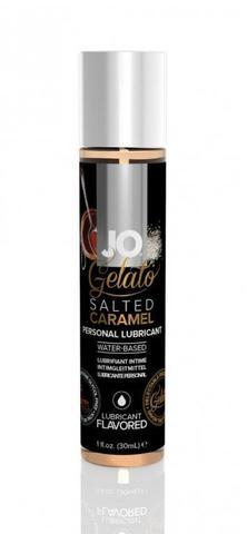 Гелевый вкусовой лубрикант СОЛЕНАЯ КАРАМЕЛЬ на водной основе JO GELATO SALTED CARAMEL FLAVORED LUBRI