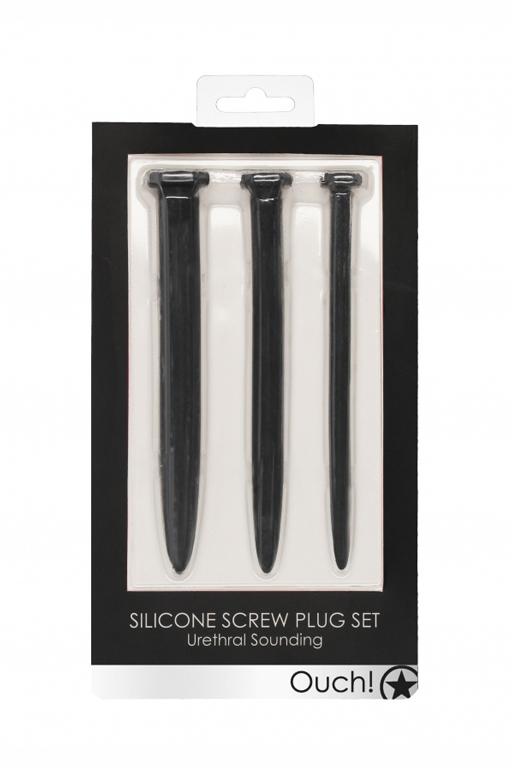 Набор из трех стимуляторов уретры (струн) Silicone Rugged Nail Plug Set фото