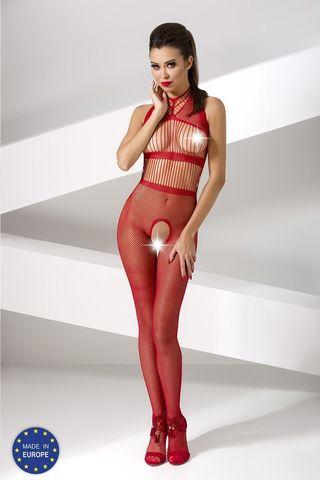 Красный бодикомбинезон BS048