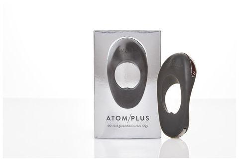 Мощное гибкое эрекционное виброкольцо с двумя виброэлементами ATOM PLUS