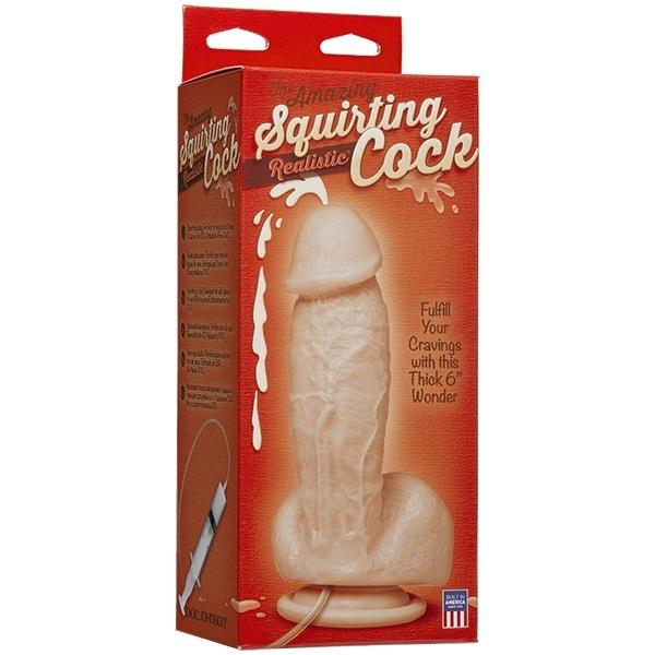 Фаллоимитатор с семяизвержением The Amazing Squirting Realistic® Cock - White фото